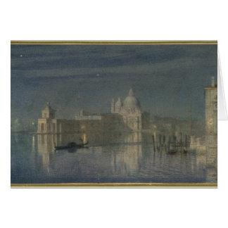 Saludo de Santa María Della, Venecia, claro de lun Tarjeta De Felicitación
