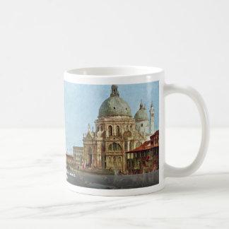 Saludo de Santa María Della, Venecia. Por Taza Básica Blanca