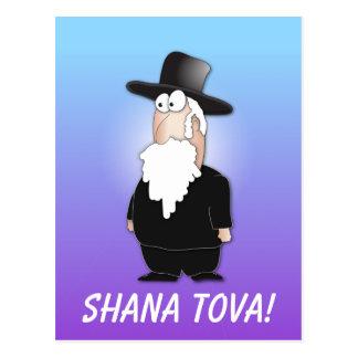 Saludo de Shana Tova - postrcard judío del rabino Postal