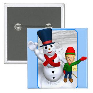 Saludo de Snowmans Pin