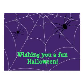 Saludo de Spiderweb Postales