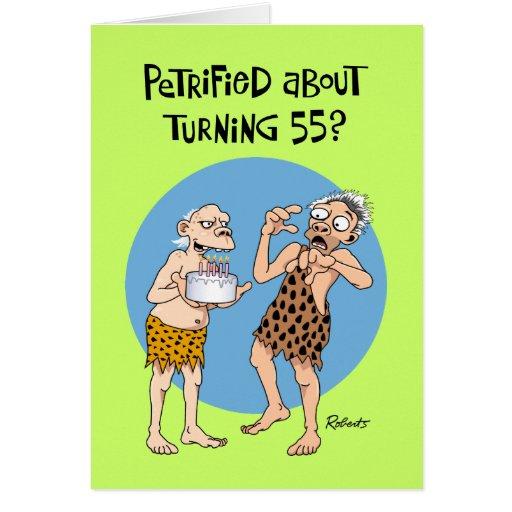 Saludo de torneado de 55 cumpleaños tarjeta de felicitación