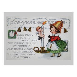 Saludo del Año Nuevo de la belleza Tarjeta Postal