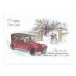 Saludo del Año Nuevo del automóvil del vintage