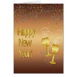 Saludo del Año Nuevo Tarjeta De Felicitación