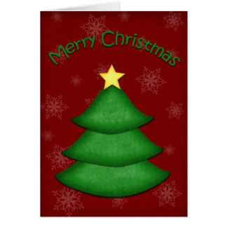Saludo del árbol de navidad tarjeta de felicitación