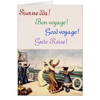 Saludo del buen viaje Galés Tarjeta De Felicitación