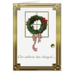 Saludo del cambio de dirección del navidad tarjeta