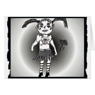 Saludo del chica del gótico de Lil Tarjeta Pequeña