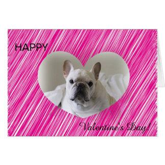 Saludo del corazón del el día de San Valentín del Tarjeta De Felicitación