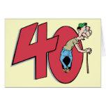 Saludo del cumpleaños de cuarenta - 40 años tarjeton
