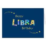 Saludo del cumpleaños de la muestra del zodiaco tarjeta de felicitación