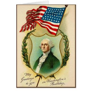 Saludo del cumpleaños de Washington Tarjeta De Felicitación