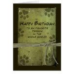 Saludo del cumpleaños DEL MASCOTA - IMPRESIONES de Tarjeta