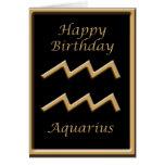 Saludo del cumpleaños del negro del símbolo del tarjeta de felicitación