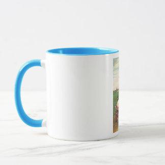 Saludo del cumpleaños del vintage taza