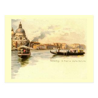 Saludo del della de Santa María, vintage de Veneci Tarjeta Postal