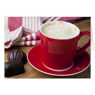 Saludo del descanso para tomar café tarjeta de felicitación