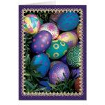 Saludo del día de fiesta del huevo de Pascua Felicitación