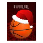 saludo del día de fiesta del jugador de básquet tarjetas postales
