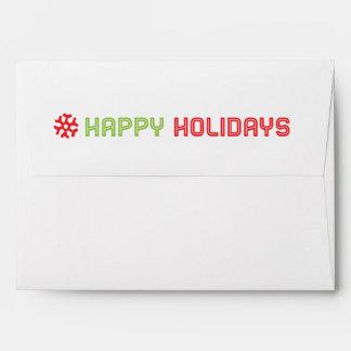 Saludo del día de fiesta/sobre de la tarjeta de la sobre