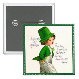 Saludo del día de St Patrick del vintage Pins