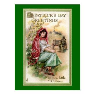 Saludo del día de St Patrick del vintage Postales