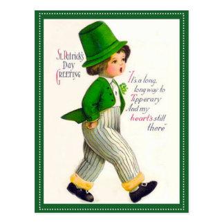 Saludo del día de St Patrick del vintage Tarjeta Postal