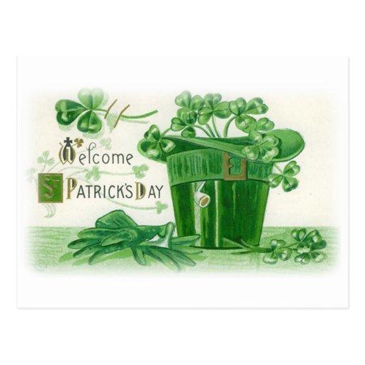 Saludo del día del St. Patricks del vintage Postal