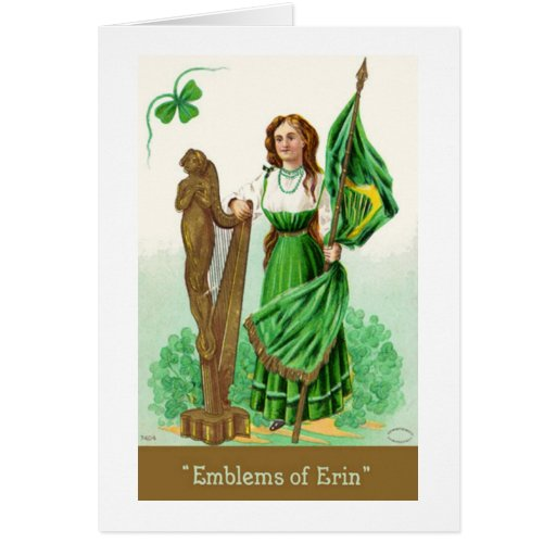 Saludo del día del St. Patricks del vintage Tarjeta Pequeña