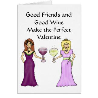 Saludo del el día de San Valentín de la amistad de Felicitación