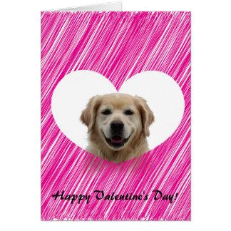 Saludo del el día de San Valentín del corazón del Tarjeta De Felicitación
