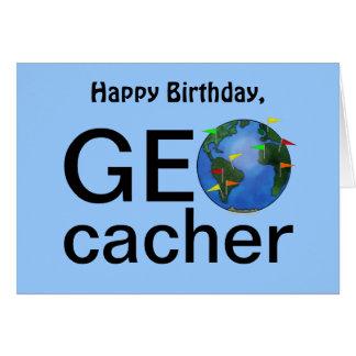 Saludo del feliz cumpleaños de Geocaching de la ti Tarjeta