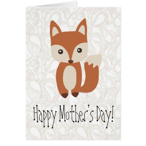Saludo del Fox del día de madre Tarjetón