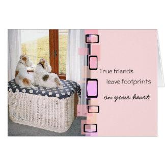 Saludo del fox terrier del alambre tarjeta pequeña