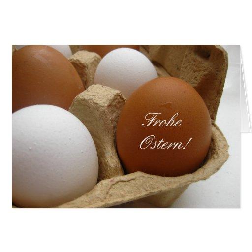 saludo del huevo de Pascua del alemán Felicitacion
