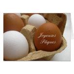 saludo del huevo de Pascua del francés Felicitacion