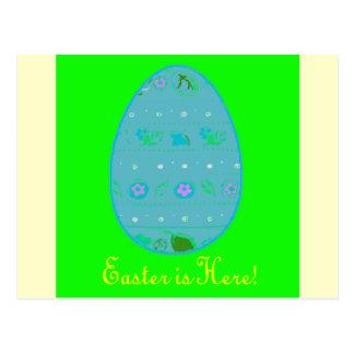 Saludo del huevo de Pascua Tarjeta Postal