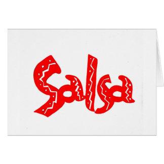 Saludo del logotipo de la salsa tarjeta de felicitación
