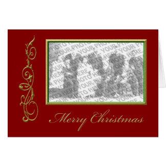 Saludo del marco de la foto del navidad tarjetón