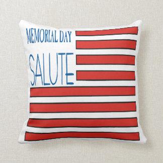 Saludo del Memorial Day Cojines