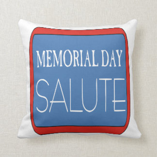Saludo del Memorial Day Almohada
