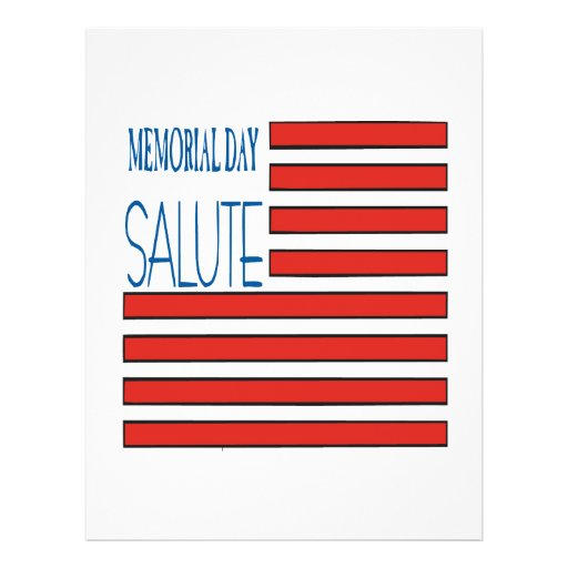 Saludo del Memorial Day Tarjetón
