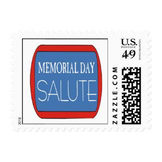 Saludo del Memorial Day Sellos