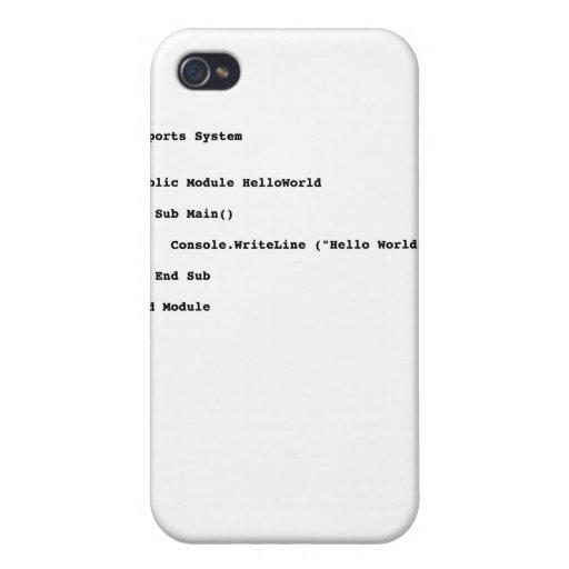 Saludo del mundo de Visual Basic hola iPhone 4/4S Carcasas