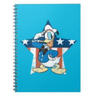 Saludo del pato Donald el | con la estrella Libro De Apuntes
