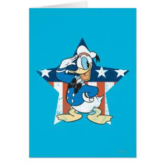 Saludo del pato Donald el | con la estrella Tarjeta De Felicitación