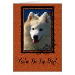 Saludo del perro superior felicitaciones