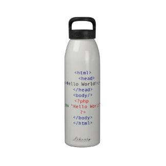 Saludo del PHP del friki Botella De Beber