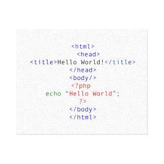 Saludo del PHP del friki Impresión En Lienzo